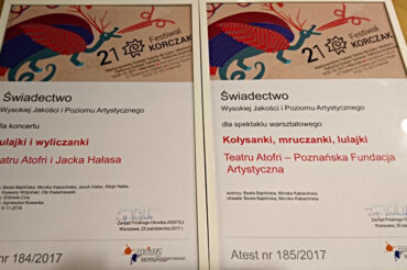 Dwa Atesty ASSISTEJ naXXI Festiwalu Korczak 2017!