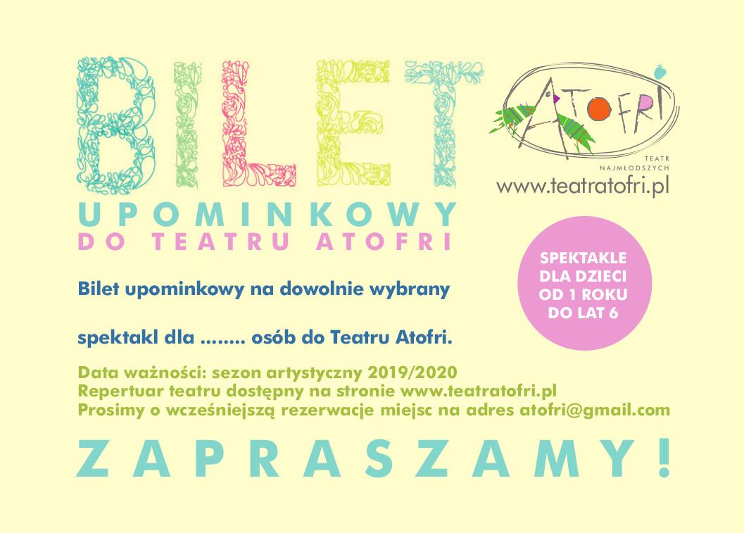 Teatr Atofri bilet upominkowy prezent 2020